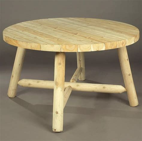 Round Log Picnic Tables