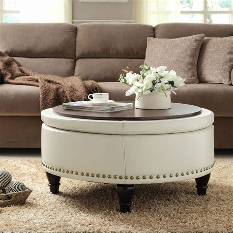 Round Ottoman Coffee Table Diy With Crates