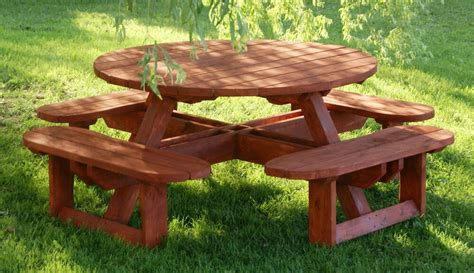 Round Picnic Bench Plans