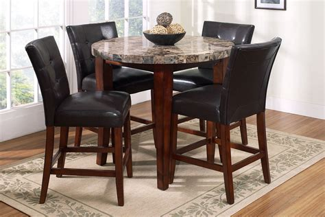 Round Pub Table With 4 Stools