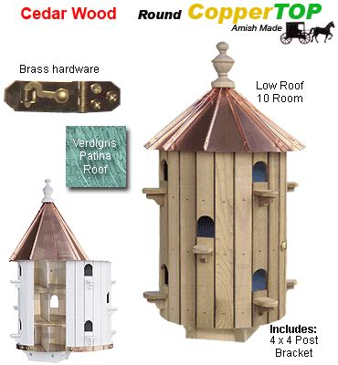 Round Purple Matrin Birdhouse Plans
