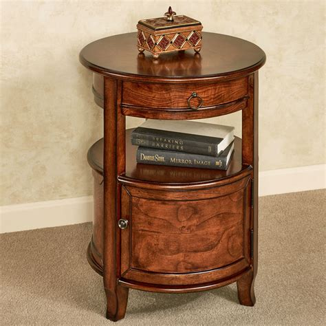 Round Side Table With Storage