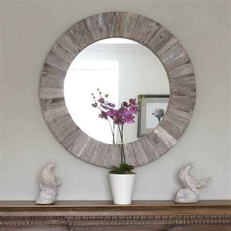 Round Wall Mirror Wood Diy Cupcake