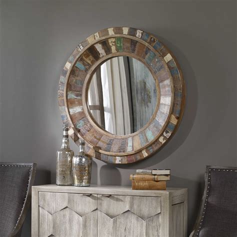 Round Wall Mirror Wood Dyes