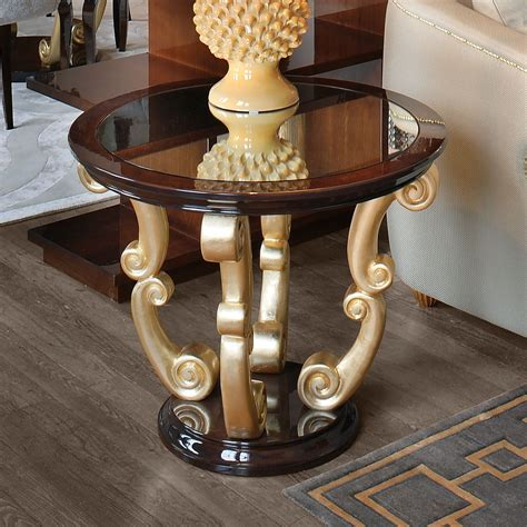 Round Wenge Side Table