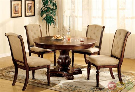 Round Wood Dining Room Sets