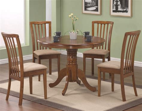 Round Wood Dining Set