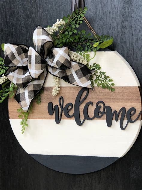 Round Wood Plaque Diy Christmas