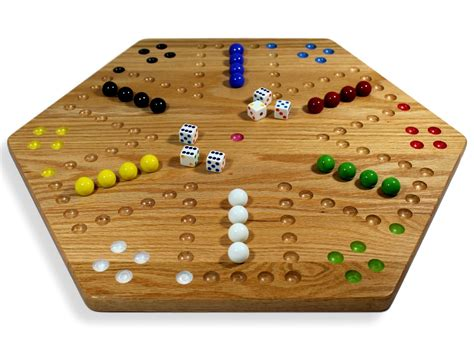 Round Wooden Aggravation Board Game