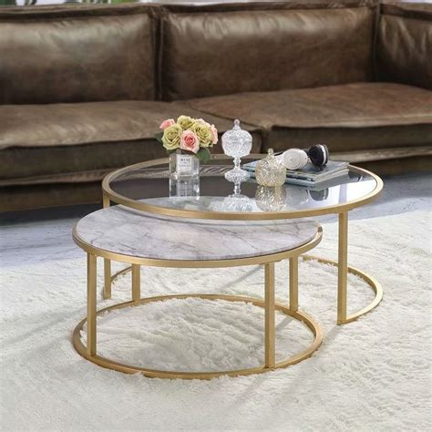 Round glass coffee table 59 Image