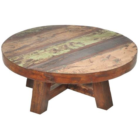 Round-Coffee-Table-Woodworking-Plans