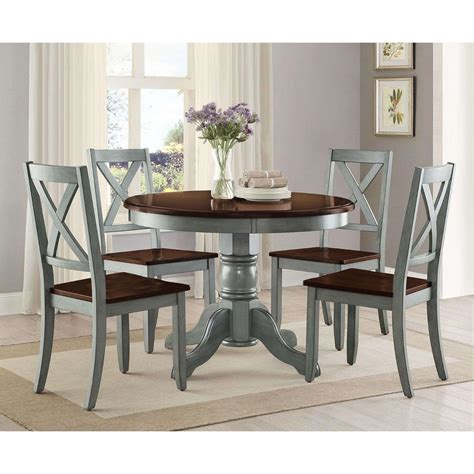 Round-Farmhouse-Dining-Table-Set