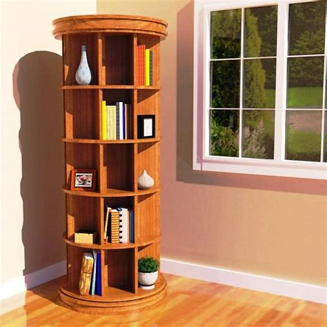 Round-Revolving-Bookcase-Plans