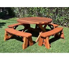 Best Round wooden picnic table plans