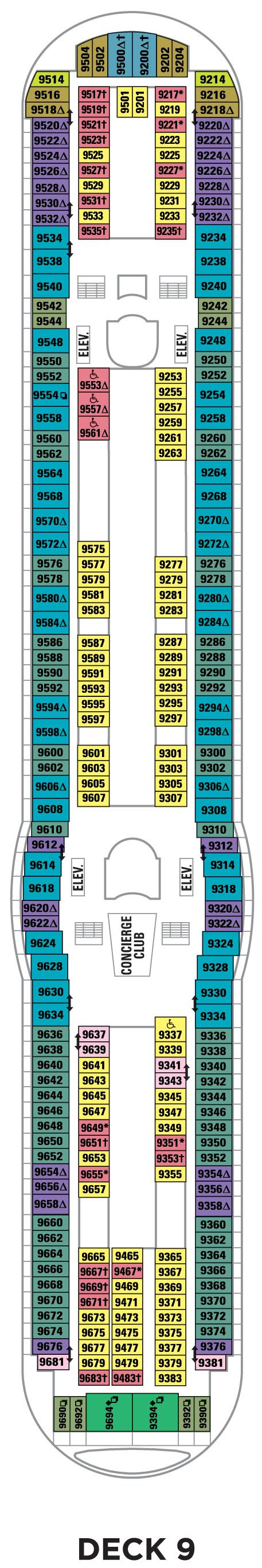 Royal Caribbean Explorer Of The Seas Deck Plan 9