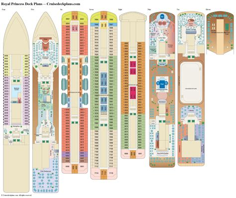 Royal Princess Cruise Ship Deck Plans