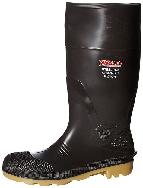Rubber 51244 15-Inch Steel Toe Cleated Knee Boot, Size 8, Brown