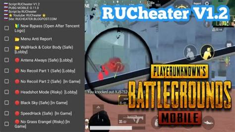 Rucheater V1.2 Script Hack PUBG Mobile 0.11.0