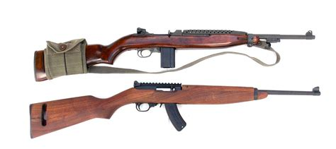 Ruger 10 22 M1 Carbine Wood Stock 22lr Rifle And Fox Shooting Rifle