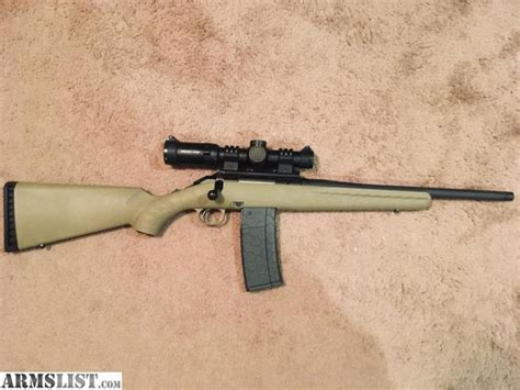 Ruger American Ranch 556 223 With Ar Magazine And Ruger Ar 556 Magpul Magazine