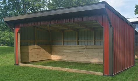 Run In Plans For Horse Stables