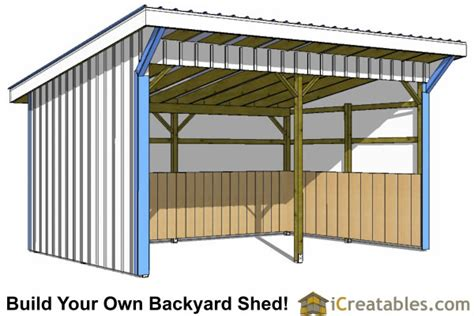 Run In Shed Plans 12x20