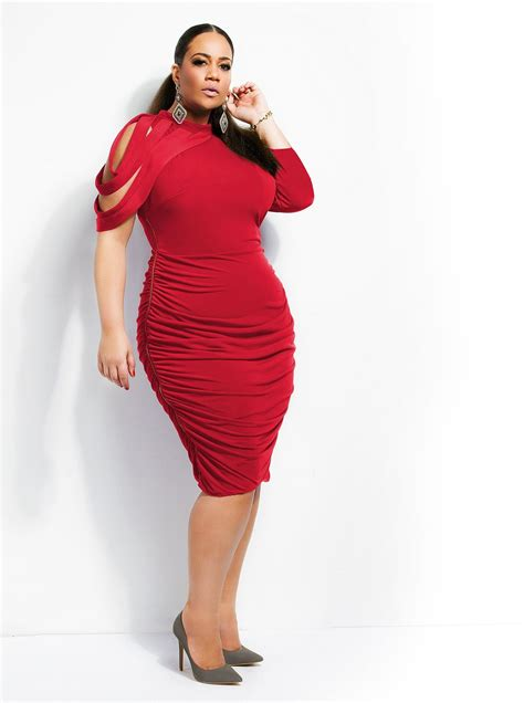 HD wallpapers plus size dress with exposed zipper