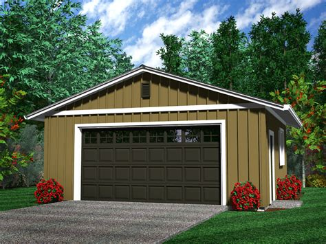 Rustic 2 Car Garage Plans