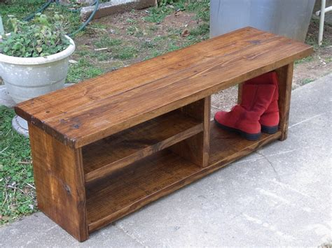 Rustic Boot Benches