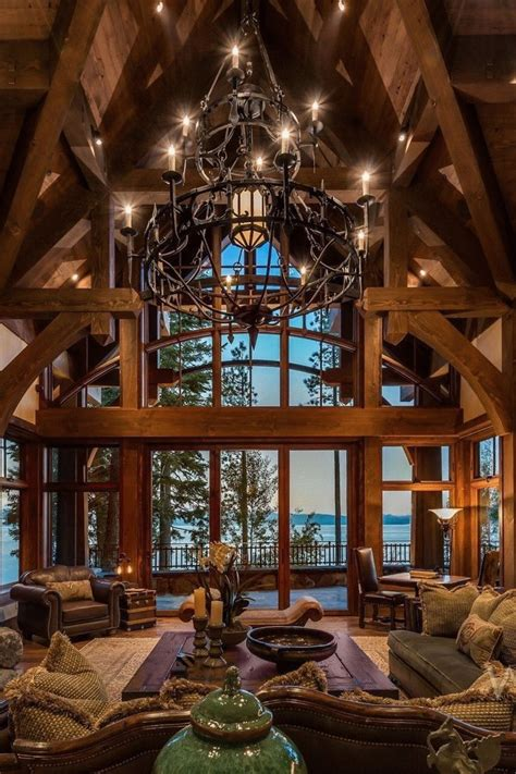 Rustic Cabin Plans With High Ceiling