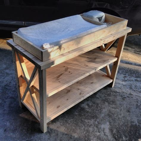 Rustic Changing Table Plans