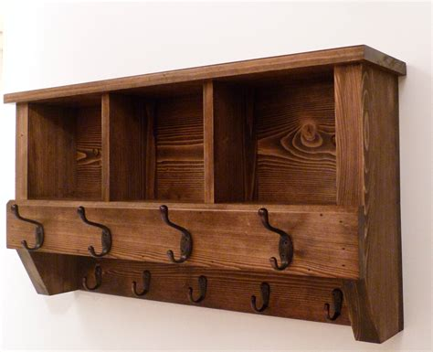 Rustic Coat Rack With Cubbies