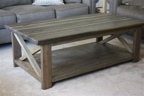 Rustic Coffee Table Building Plans