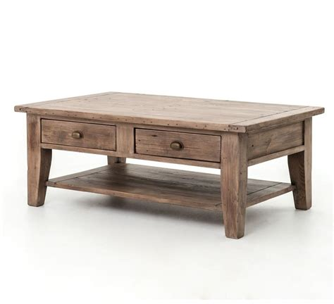 Rustic Coffee Table With Drawers Plans