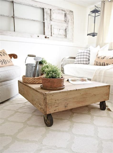 Rustic Coffee Table With Wheels Diy