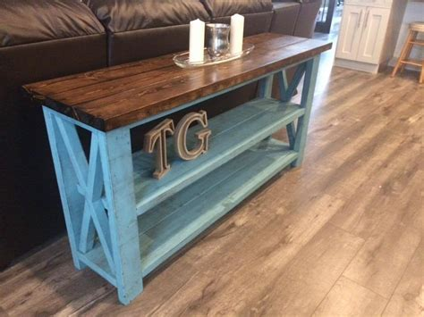 Rustic Couch Table Plans