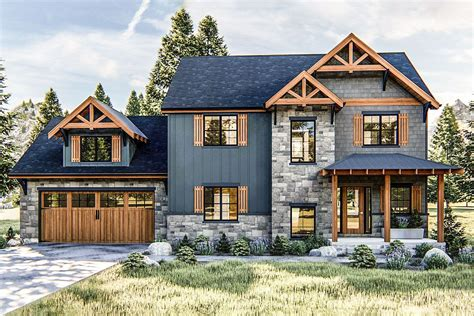 Rustic Craftsman Cottage House Plans