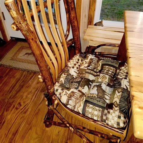 Rustic Dining Room Chair Pads