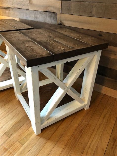 Rustic End Tables DIY Styles
