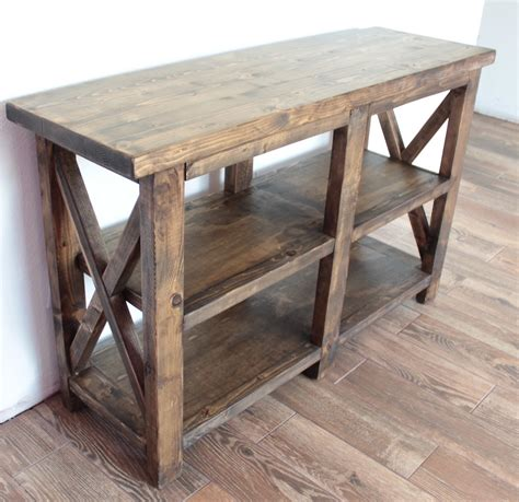 Rustic Entry Table Diy With Shelf