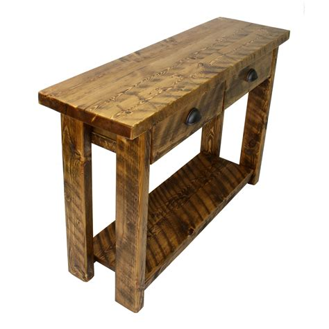 Rustic Entry Table With Drawers