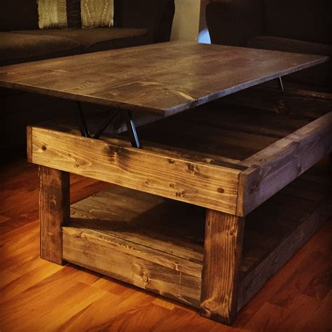 Rustic Lift Top Coffee Table Plans