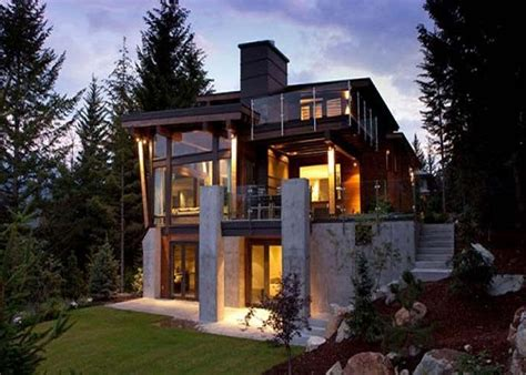 Rustic Mountain Home Plans For Sloping Lot
