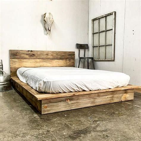Rustic Platform Bed Diy For College
