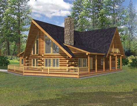 Rustic Small Log Cabin Floor Plans