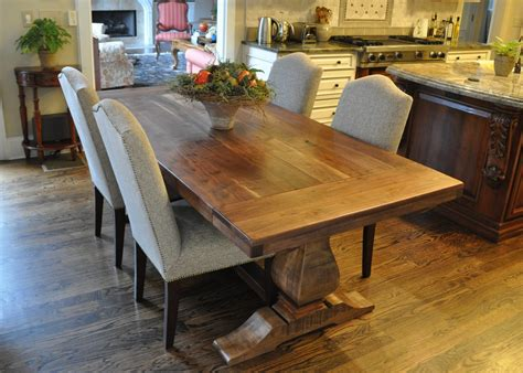 Rustic Trestle Dining Table Plans