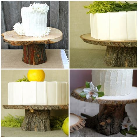 Rustic Wedding Cake Stand DIY