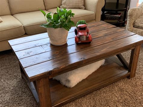 Rustic White Coffee Table Diy Bench