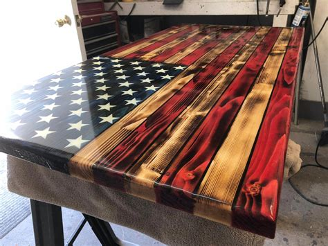 Rustic Wood American Flag Diy With Starfish