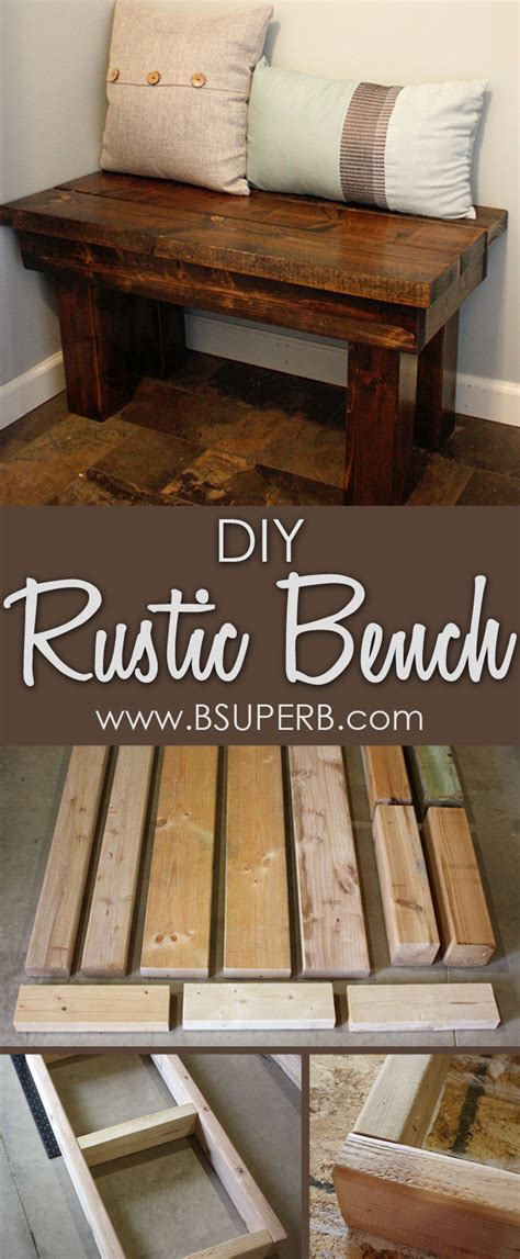 Rustic Wood Bench Diy